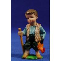 Pastor con gallina naïf 7 cm marmolina Oliver
