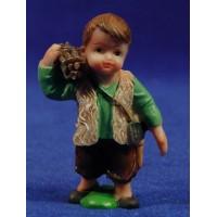 Pastor leñador naïf 7 cm marmolina Oliver