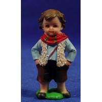 Pastor con bufanda naïf 7 cm marmolina Oliver