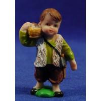 Pastor con cesto huevos naïf 10 cm marmolina Oliver