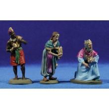 Reyes adorando 8 cm resina cerámica pintado Perez Serie Básica