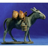 Mula cargada 16 cm barro pintado Perez