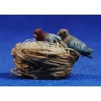 Nidos de palomas 16 cm barro pintado Perez