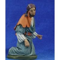 Pastor adorando 20 cm barro pintado Perez