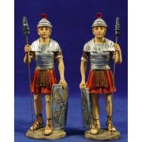 Pareja soldados romanos 15 cm resina