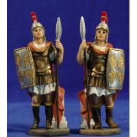 Pareja soldados romanos 10 cm resina