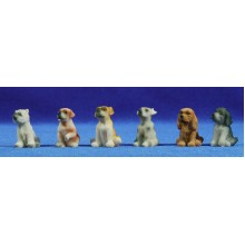 Perro crias 10 cm resina Belenes Puig