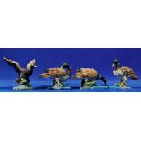 Grupo 4 patos color 16-20 cm resina Belenes Puig