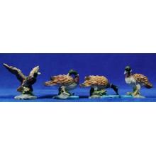 Grupo 4 patos color 16-20 cm resina belénes Puig