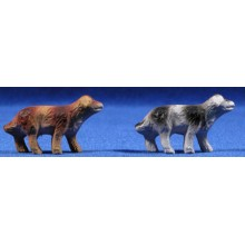 Perro 3 cm barro pintado Belenes Puig
