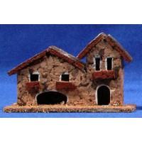 Casa dos puertas 11x4x7 cm corcho Belenes Puig