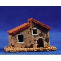 Casa modelo 2 6x3x4 cm corcho Belenes Puig