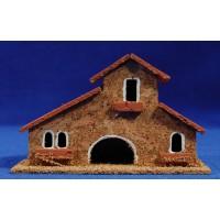 Casa modelo 2 13x5x8 cm corcho Belenes Puig
