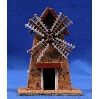 Molino rústico 7x5x10 cm corcho belénes Puig