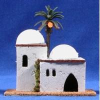 Casa hebrea dos cúpulas 12x8x12 cm corcho belénes Puig