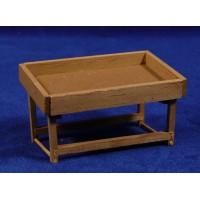 Banco mercado vacio 5 cm madera