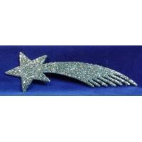 Estrella plata 25 cm plástico