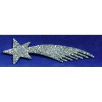 Estrella plata 20 cm plástico