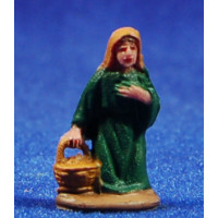 Pastora adorando con cesto 3 cm plástico belénes Puig