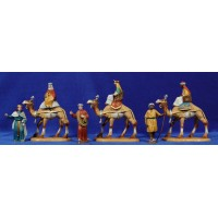 Reyes a camello 10 cm plástico Belenes Puig