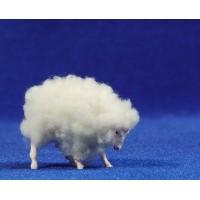 Cordero con lana 6 cm plástico Belenes Puig