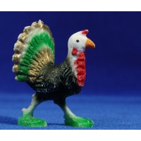 Pavo real moderno 8 cm plástico Belenes Puig