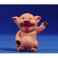 Cerdo moderno de pie 8 cm plástico belénes Puig