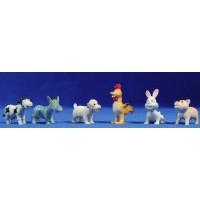 grupo animales modernos 5 cm plástico belénes Puig