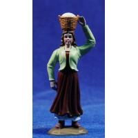 Pastora con cesto a la cabeza 8 cm plástico Belenes Puig