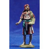 Pastor con cordero al lado 8 cm plástico belénes Puig