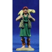 Pastor con cordero en la espalda 8 cm plástico Belenes Puig
