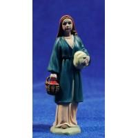 Pastora con cesto y fajo 8 cm plástico Belenes Puig