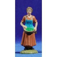 Pastora con cesta 8 cm plástico belénes Puig