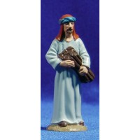 Pastor con leña 8 cm plástico Belenes Puig
