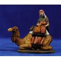 Pastor cargando camello 10 cm resina