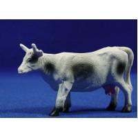 Vaca blanca y negra 6 cm resina Belenes Puig