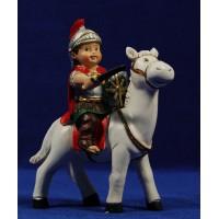 Romano a caballo naïf 8 cm marmolina Belenes Puig