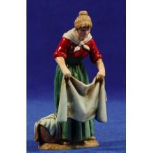 Pastora tendiendo ropa 10 cm plástico Moranduzzo - Landi estilo 700