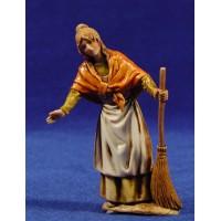 Pastora con escoba 10 cm plástico Moranduzzo - Landi estilo 700