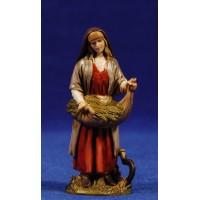 Pastora segadora 10 cm plástico Moranduzzo - Landi estilo ebraico