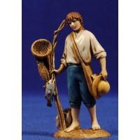 Pescador de pie con sombrero 10 cm plástico Moranduzzo - Landi estilo 700
