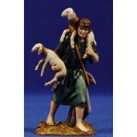 Pastor con corderos y bolsa 10 cm plástico Moranduzzo - Landi estilo ebraico