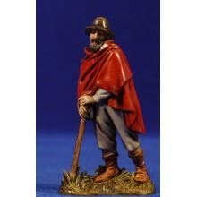 Pastor viejo con capa y bastón apoyado 10 cm plástico Moranduzzo - Landi estilo 700