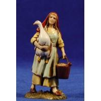 Pastora con oca y cubo 10 cm plástico Moranduzzo - Landi estilo 700