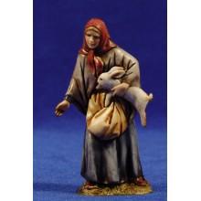 Pastora con conejo 10 cm plástico Moranduzzo - Landi estilo 700