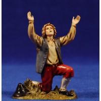 Pastor arrodillado maravillado 10 cm plástico Moranduzzo - Landi estilo 700