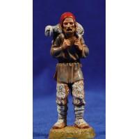 Pastor con cordero a la espalda 10 cm plástico Moranduzzo - Landi estilo 700