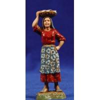 Pastora con cesto en la cabeza 10 cm plástico Moranduzzo - Landi estilo 700