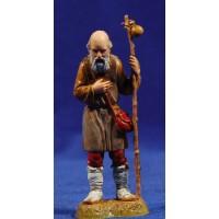 Pastor viejo con bastón apoyado 10 cm plástico Moranduzzo - Landi estilo 700