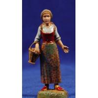 Pastora con cesto al brazo 10 cm plástico Moranduzzo - Landi estilo 700